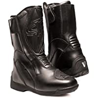 Vega Touring Women's Motorcycle Boots (Black, Size 10) by Vega Technical Gear