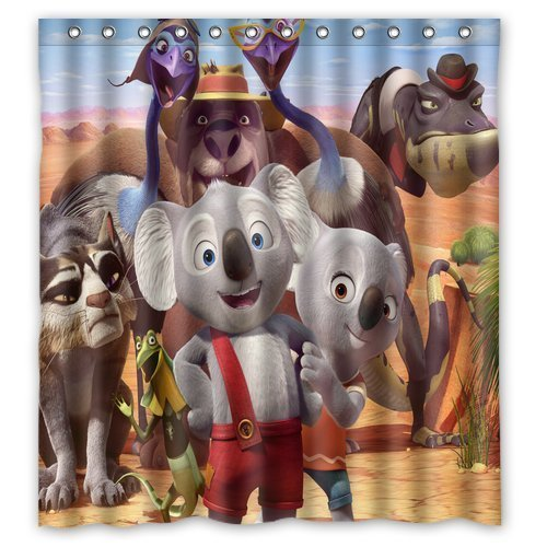 Blinky Bill Cute Animals Elephants Custom Unique Waterproof Shower Curtain Bathroom Curtains 66x72 inches