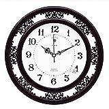 kklock Reloj de pared Reloj Relojes de Pared según los para salón oficina Dormitorio Cocina Habitación Mini Fácil Pila AA Ø35cm redondas Retro con números dibujos animados Relojes [No contiene batería] negro negro
