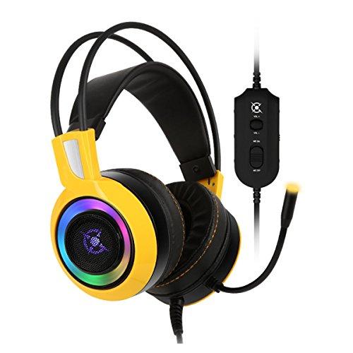 Cox UV 400Real 7.1Gaming Headset Vibration RGB Gelb Gelb (Uv-kanal Licht)