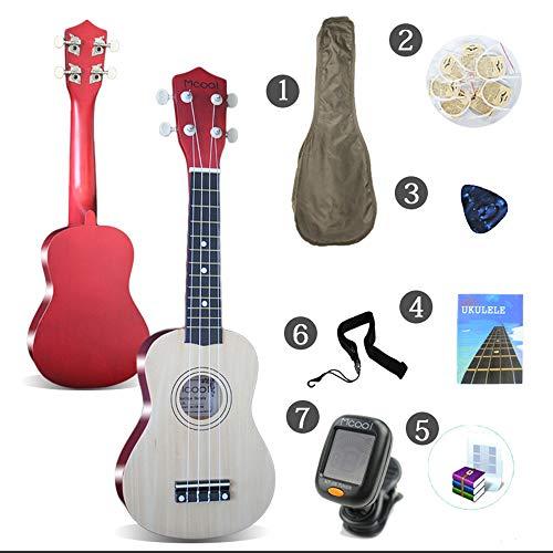 LCDY Entrada De Ukelele para Guitarra Ukulele Guitarra de 21 Pulgadas Principiante Estudiante Adulto Guitarra Pequeña,Red,58 * 21 * 8CM