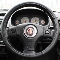Hardcastle - Fodera per volante auto/camion look pelle - Nero - Impugnatura Di Sterzo Copertura