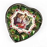 Herz & Heim Pralinen zu Weihnachten in herzförmiger Schatulle mit persönlichem Foto im Etikett
