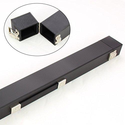 NEW Fliptop, colore: nero, 2 pezzi-Custodia per stecca da biliardo e Snooker
