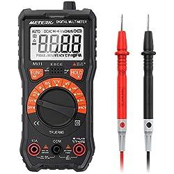 Multímetro Meterk 2000 Cuentas Multímetro Digital Multi Tester AC/DC Resistencia Capacidad ncv-116 de frecuencia de prueba prueba Medición de Temperatura Continuidad Trasero Iluminación Pantalla LCD