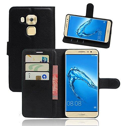 IVSO Huawei Nova 5.5 Case - Slim Flip Shell Case for Huawei Nova 5.5 Smartphone (Slim PU Series - Black)