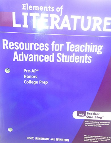 Winston Schlüssel (Elements of Literature, 2nd Course, Grade 8: Resources for Teaching Advanced Students, Includes Pre-AP Honors College Prep)