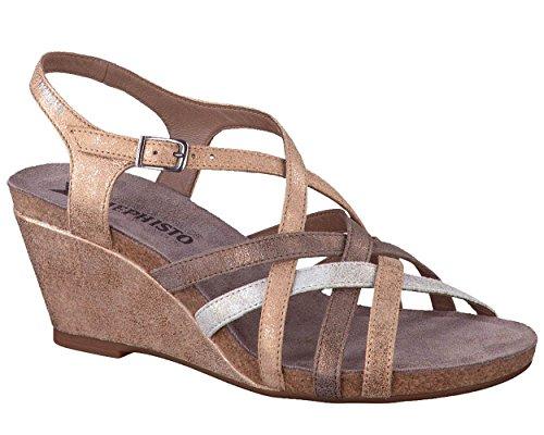 Mephisto ,  Damen Slingback , Gold - 26612 - Größe: 40 (Gold Mephisto Schuhe)