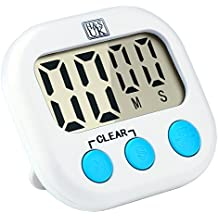 H&S Kitchen Timer Digital Cooking Timer Magnetic Countdown Clock Large LCD Screen Loud Alarm