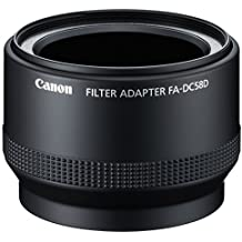 Canon FA DC 58 D Filter Adapter for PowerShot G15 Camera - Black,6925B001