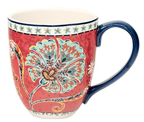 Duo Jumbotasse Becher XXL folkloristische Deko 810 ml aus Keramik Trinkbecher Smoothie Becher Geschenk Büro Tasse für Kaffee Teetasse Cappuccino Kaffeebecher Jumbo-Tasse Riesentasse XXXL (Orient 2) (Bunt Kaffee Becher Groß)