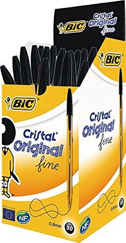 bic-ballpoint-pen-cristal-fine-with-cap-08mm-box-of-50-pieces-black