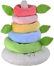 """Small Foot by Legler Stapelturm Regenbogen""""Lotta"""" aus kuschelweichem Plüsch, in zarten Pastellfarben, trainiert die Sinne des Babys und schult spielerisch die Motorik"""