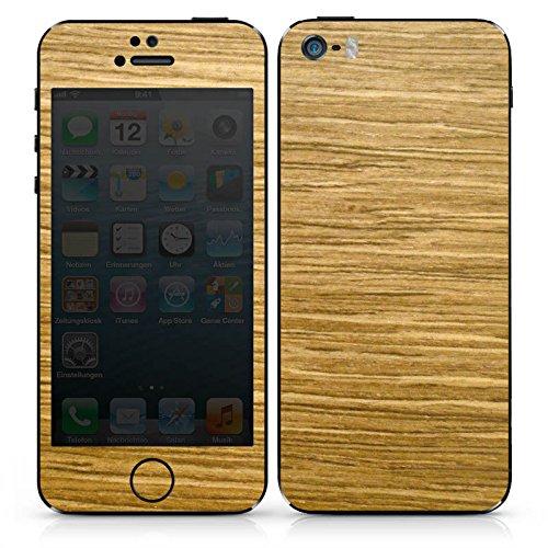 Apple iPhone 4s Case Skin Sticker aus Vinyl-Folie Aufkleber Holz Look Eichenholz Maserung DesignSkins® glänzend