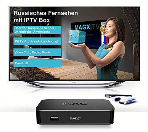 Русское ТВ Russische TV MAG 322, 254 oder 256 IPTV Box Internet Aura HD ohne ABO mit MAG 256