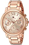 Tommy Hilfiger Women's 'Claudia' Quartz Stainless Steel Analogue Round Rose Gold Dial Watch - 1781743