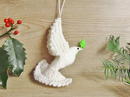 Dove Of Peace, Christmas Tree Ornament: Amazon.co.uk: Handmade