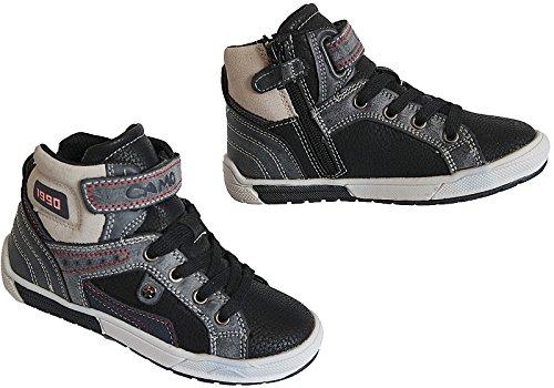 HIGH TOP Sneaker Jungen Kinder Knöchelschuhe gr.25 - 30 nr.809 Schwarz