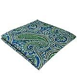 Shlax&Wing único Cachemir Neckties For Men Azul Verde Nuevo Design Seda Tie Corbata Flaca Extra...