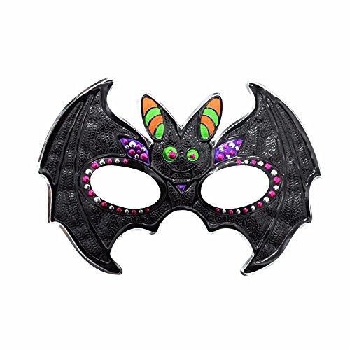 chtsmaske Gesichtsschutz Domino falsche Front Halloween Make-up Abschlussball männliche Maske Party Kinder Maske Fledermaus 1 ()