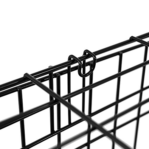 Home Discount Pet Cage Metal Folding Dog Puppy Animal Crate Vet Car Training Carrier With Tray, 24 Inch