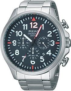 Pulsar PT3319X1 - Reloj con correa de acero para hombre, color azul / gris de Pulsar