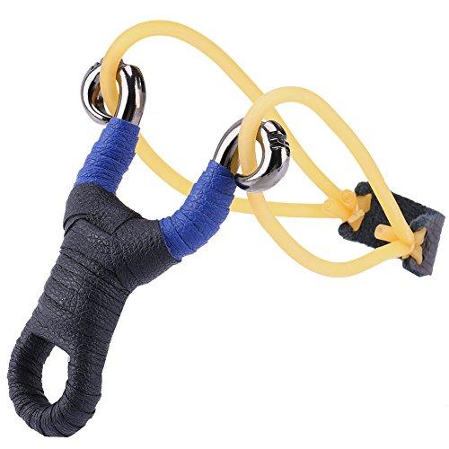 RUNACC Slingshot High Velocity Jagd Katapult Verstellbar mit Gummi Bands und Premium Grip Geeignet für Outdoor Wettbewerb und Fitness Katapult, - Gummi-band-größen