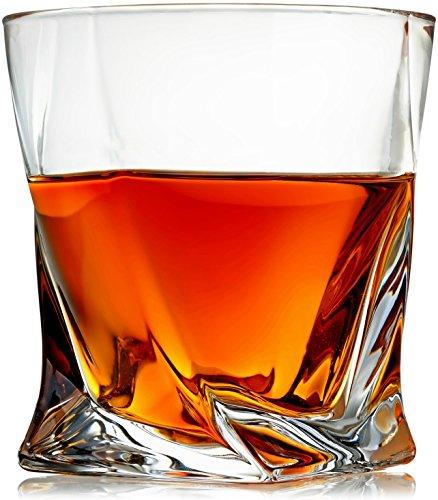 er-Set von 4-PREMIUM bleifreies Kristallglas Tassen-große 10oz Tasting Tumbler für Trinken Scotch, Bourbon, Irish Whisky, Brandy-Luxus-Geschenkbox für Herren oder Frauen ()