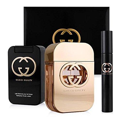 Eau De Parfum Fragrance Pen (Gucci GUILTY Pour Femme Set 75ml Eau De Toilette EDT, 100ml Body Lotion & 7.4ml EDT Fragrance Pen)