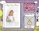 Cross My Heart Set de Regalo de Primera comunión para niña con Cuentas, Medalla y Cadena C5194