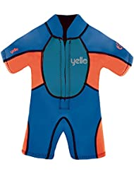 Yello Boys 'acolchado bebé Traje UPF 50Plus Wet Suit, Niños, Puffer Infant Shorty UPF 50 Plus, azul