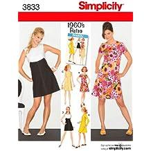 Simplicity 3833 - Patrones de costura para vestidos de mujer y niña