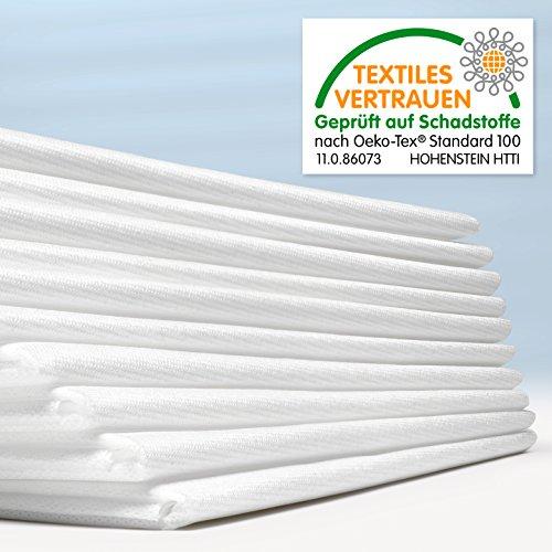 Waschfaserlaken ACTIV (300x waschbar) 10 St.+2 Laken GRATIS (80×210 cm, weiß) Waschvlies / Vlieslaken – OEKO-TEX® geprüft – ORIGINAL Dr. Güstel - 6