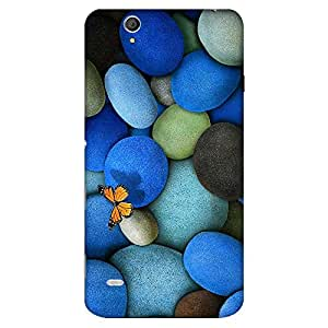 Bhishoom Designer Printed Back Case Cover for Sony Xperia C4 Dual, Sony Xperia C4 Dual E5333 E5343 E5363 (Pebbles And Butterfly)