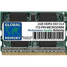 2GB DDR2 533MHz PC2-4200 172-PIN MICRODIMM MEMORIA RAM PARA ORDENADOR PORTÁTILES/NOTEBOOKS