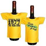 Mini T-Shirt Set Original since 1977 The real king und Bester Papa für immer Flaschenüberzieher Geschenk für das Geburtstagskind zum 41. Geburtstag