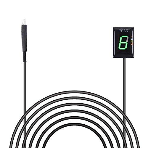 Wasserdicht 6 Speed LED Digital Anzeige Grün Display Ganganzeige Motorrad Schalthebel Sensor