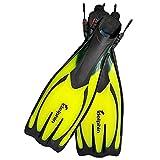 Delphin Schnorchelflossen Flossen für Schnorcheln/Tauchen/Schwimmen Professional flach-gelb (M/L)