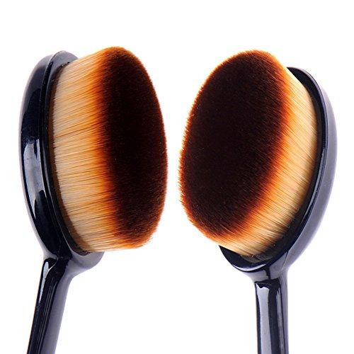Boolavard Maquillage Curve Fondation Cosmetic Pro Brosse Ovale Liquid Cream Blush Poudre Outil