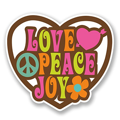 2-x-10cm-love-peace-joy-vinyl-decal-sticker-laptop-flower-hippy-camper-van-5638