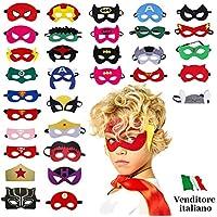 Take Inspire   Kit 32 Pezzi Maschere Supereroi   Bambini e Adulti   Feste in Maschera Carnevale Cosplay   Regalini Fine Festa Compleanno