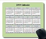 2019-2020 Kalender-Mauspad Kalender, Kalendermonate Gaming-Mauspad, Kalenderplaner 2019 mit Feiertagsdetails