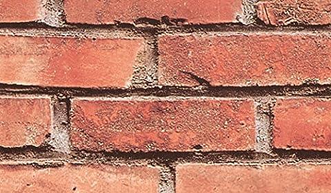 Fablon Klebefolie, 45cm x 2m Brick Wall Rolle, Rot