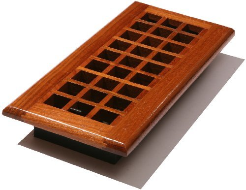 Decor Grates WEC410-N Lattice Wood Floor Register, Natural Cherry, 4-Inch by 10-Inch by Decor Grates -