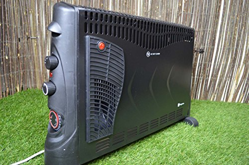 51WTkDkeWPL - Kingavon BB-CH506 2kW Convector Heater with Turbo and Timer - Black