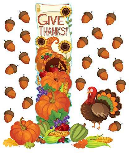 Eureka Thanksgiving Schule und Klassenzimmer Tür Dekor Kit, AllBeatuy Knetmasse (Thanksgiving Klassenzimmer Tür)