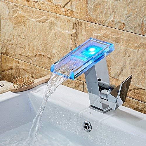 XINSU Home Waschbecken-Mischbatterie Badezimmer-Küchen-Becken-Hahn auslaufsicher Speichern Sie Wasser-Badezimmer-Kupfer-Einzelloch heißes und kaltes schwarzes Louis