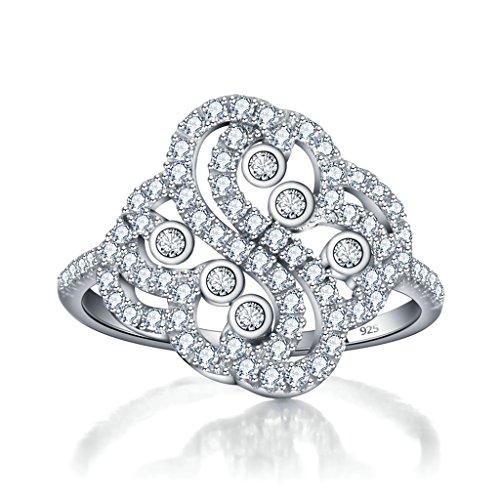 Epinki Schmuck, Damen Ringe 925 Versilbert mit Zirkonia Prinzessin Krone Heiratsantrag Ring (Prinzessin Krone Zelda Kostüm)