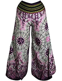Palazzo-Hosen mit weiten Hosenbeinen, Schlaghosen Hippy Boho Gypsy Festival Hipster Style