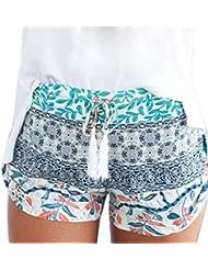 Pantalones cortos para mujer, RETUROM Pantalones cortos ocasionales de la alta cintura del verano caliente de las mujeres populares (Multicolor, M)